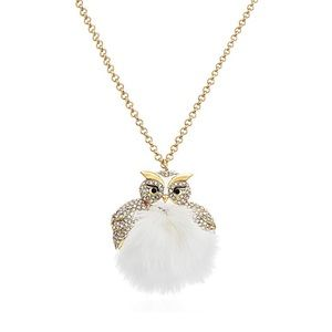 KATE SPADE • Star Bright Furry Owl Necklace